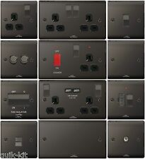 Black Nickel Chrome Switches & Sockets - Full Matching Range BG Nexus