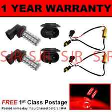 H10 RED 60 LED FRONT FOG SPOT LAMP LIGHT BULBS HIGH POWER KIT XENON FF500601 X2