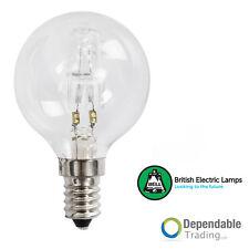 28w = 40w SES (E14) Halógeno Ahorro De Energía Pelota Golf Transparente ( BELL