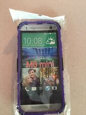 HTC  Purple Armor Dual Colors M 8 One/Mini With Stand Case