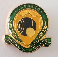 Ashburton Bowling Club Badge Pin Vintage Lawn Bowls (L18)