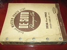 1936 1937 1938 1939 1940 1941 42 De Soto Parts List Book_ORIG_S-1-S-10_Airflow