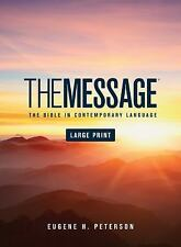 The Message Bible by Eugene H. Peterson (2007, Hardcover, Large Print)