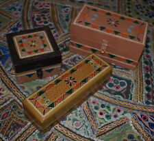 Handpainted Folk Art Boxes  Set of 3 pieces18x9x9 20x5x6 10x10x6cm