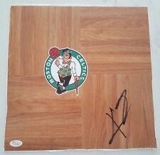 "KYRIE IRVING SIGNED 12 x12"" FLOORBOARD NBA BOSTON CELTICS CAVS JSA COA H13766"