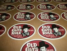 "25 OLD GUYS RULE JOHN WAYNE ""A MAN'S GOT TO DO WHAT A MAN'S GOT TO DO"" STICKERS"