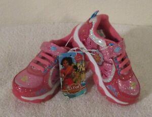 NWT Disney Elena of Avalor Toddler Girls Light Up Shoes 7 Pink MSRP$30