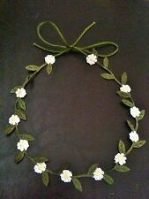 Baby Daisy Chain Garland Flower Head Band Tie, Choker Necklace?  - Photo Prop?