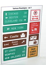 City custom signs stickers american streets highway - lego tiles sizes designed