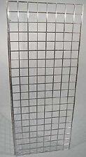 "100 x 10/"" Single Prong Gridwall 254mm Long Mesh Display Panel Shopfitting Hook"
