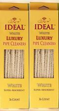 COTTON WHITE SMOKING PIPE CLEANER STEMS 2 BOXES