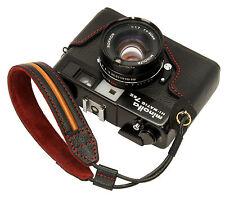 Genuine leather half case & Wrist strap for minolta Hi-Matic 7sII / Black / 7s2
