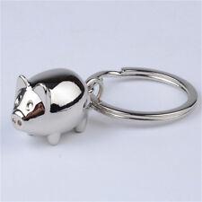 1Pcs Lovely Mini Pig Keychain Keyring Keyfob Cute Gift Ring Charm Decoration SMS