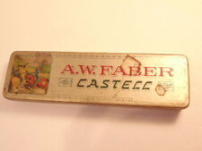 Vintage A.W. Faber Castecc German pencil tin