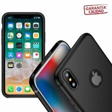 Funda silicona iPhone XS MAX deluxe color negro de lujo para ver logo Apple