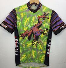 VTG Primal Wear Jumpin' Jehosaphat Frog Graphic Cycling Bike Jersey EUC Men's M