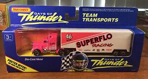 Vintage 1990 Matchbox International Days Of Thunder Team Transports In Package
