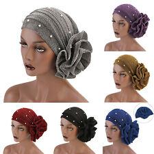 Muslim Women Flower Cancer Chemo Hat Hijab Hair Loss Turban Head Scarf Cap