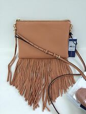 NWT REBECCA MINKOFF Fringe Jon Leather Crossbody Bag Purse Butter Rum New