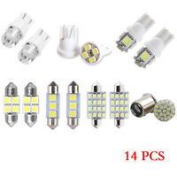 14Pcs LED Light Interior Package Dome Map License Plate Indicator Bulb Lamps Kit