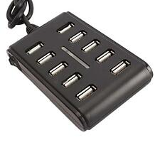 Plug and Play 10 Ports 10-Port High Performance Extension Cable USB 2.0 Hub US