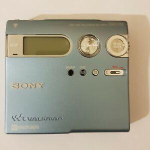 RARE SONY WALKMAN PORTABLE MINIDISC RECORDER MZ-N910 BLUE (2003)