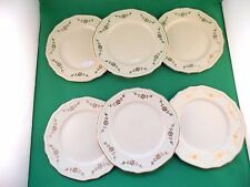 Alfred Meakin Gold Swags Green Band Salad Plates x 6