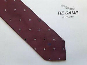 Vintage Christian Dior Designer Neck Tie, Classic, Burgundy/Navy EUC