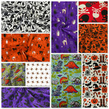 Halloween Fabric Masks Skeletons Ghosts Cats Witch Spiders Bats Pumpkin Skulls