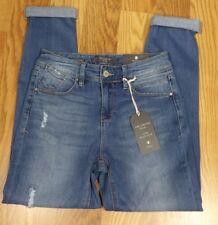 The Limited Blue 5 Pocket Distressed Slim Boyfriend Jeans Size 6R 28x26 P458