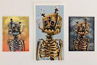 *Lil' Tuff Junk Smoking Robot Handbill & (2)Stickers by Emek*
