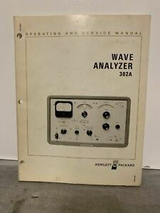 Vintage HP Wave Analyzer 302A Operating And Service Manual Instruction Guide