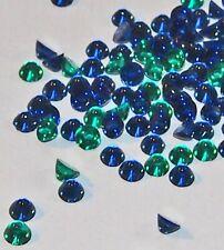 25 Sapphire Blue Glass Stones flat backs Cabochon Czech