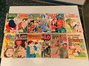 Golden Age Romance Love GROUP (14 Comics) Low Grade 1950's FR to GD