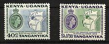 KENYA, UGANDA AND TANGANYIKA (KUT) - 1958 SG181-82 DISCOVERY OF LAKES  -  MNH
