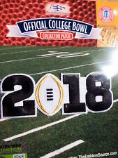 NCAA College Football White 2018 CFP Championship Game Patch As Worn By Alabama