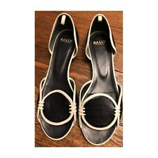 Bally d'orsay leather sandals, 7.5