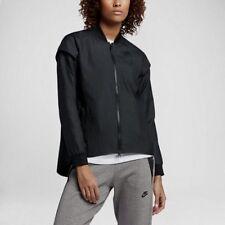 $140 Women NEW Nike Tech Woven Black Vest Jacket 2 in 1 Removable Sleeves XS S
