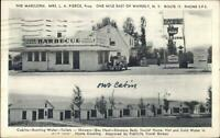Waverly NY Barbecue BBQ Gas Station Cabins Postcard