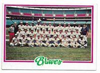 1978 Topps Atlanta Braves Team Set
