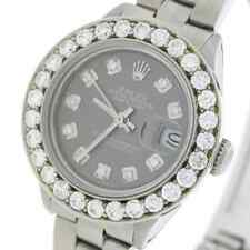 Rolex Datejust Ladies 26mm Steel Oyster Watch w/Diamond Dial & 1.96Ct Bezel