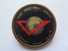WORLD WAR I DIGGERS COMING HOME AUSTRALIA FUND RAISING DELUXE BADGE 1919 YMCA