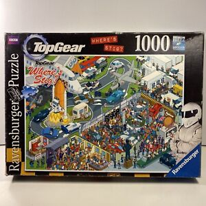 Where's Stig? Top Gear 1000 Piece Cartoon Jigsaw Puzzle - Ravensburger Complete