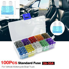 100Pcs ATC/ATO Car Automotive Boat Truck Blade Fuse Assortment Kit Standard Case