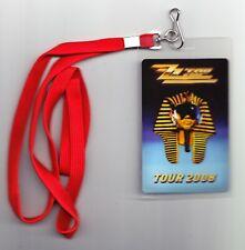 ZZ Top VIP Meet & Greet Pass Laminate With Lanyard - 2008 El Camino Ocho Tour
