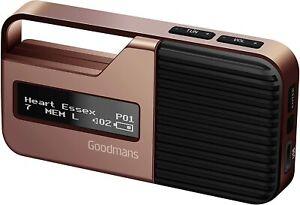 Goodmans Sport Portable Pocket Personal Handheld DAB+ FM Digital Radio Rose Gold