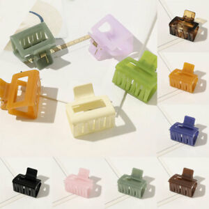 Women Girls Square Hair Clip Claw Geometric Hairpin Clamp Barrettes Accessories