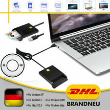 USB Chipkartenleser SIM Kartenleser Personalausweis Lesegerät Smart Card Reader