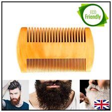 Beard Comb Brush Moustache Grooming Hair Care Handmade Pear Wood Pocket size UK