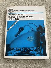 New Listing1979-1985 Harley-Davidson Service Manual Xl/Xr Models 1000cc 4-Speed 99484-85